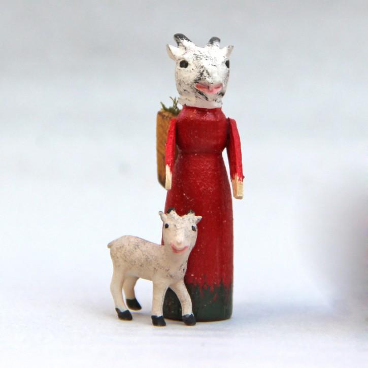 Ziegenmutter mit Kitz