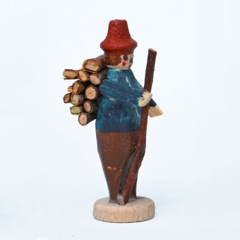 Wood-collecting man