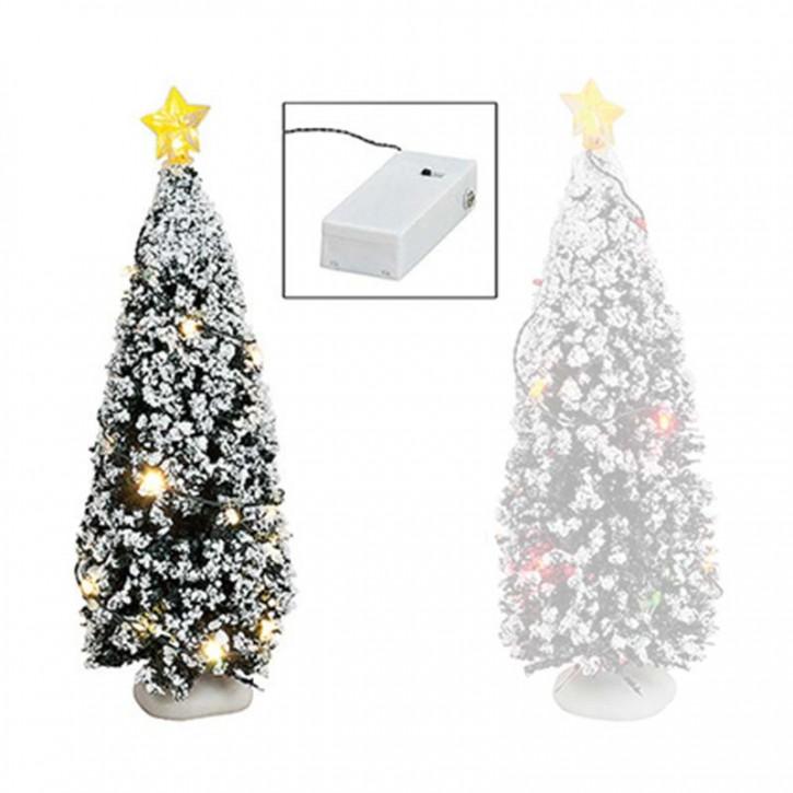 Der leuchtende Tannenbaum - weiße Lichter