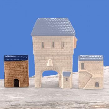 Stadttor Mauerteil A (blaues Dach)