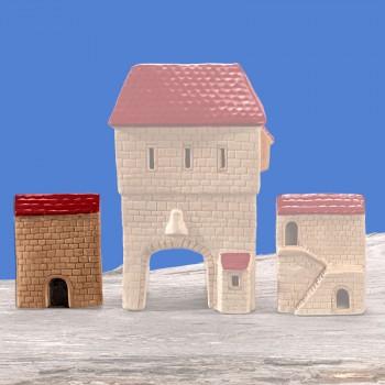 Stadttor Mauerteil A (rotes Dach)