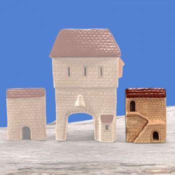 Stadttor Mauerteil B (braunes Dach)