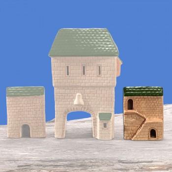 Stadttor Mauerteil B (grünes Dach)