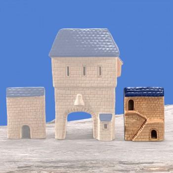 Stadttor Mauerteil B (blaues Dach)