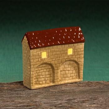 Stadttor Mauerteil C (braunes Dach)
