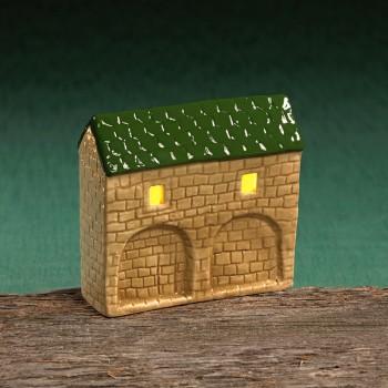 Stadttor Mauerteil C (grünes Dach)