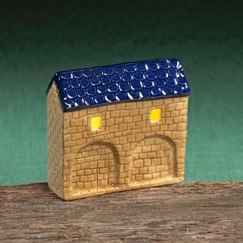 Stadttor Mauerteil C (blaues Dach)