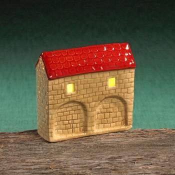 Stadttor Mauerteil C (rotes Dach)