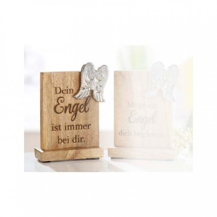 Holz-Botschaft: Dein Engel ist immer bei dir