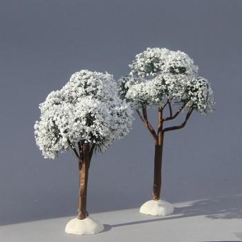 Laubbäume 2er Set (Schnee)
