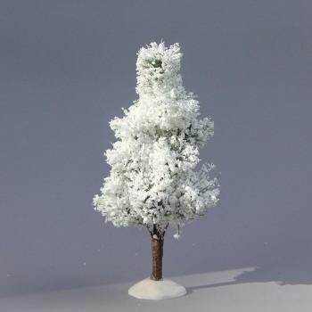 Laubbaum Schnee (einzeln)