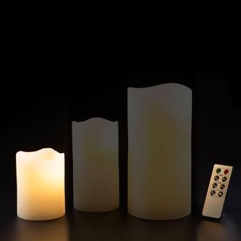 LED Echtwachskerze Klein