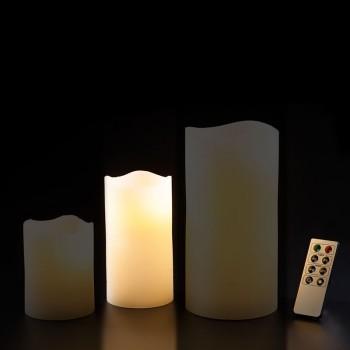 LED Echtwachskerze Mittel