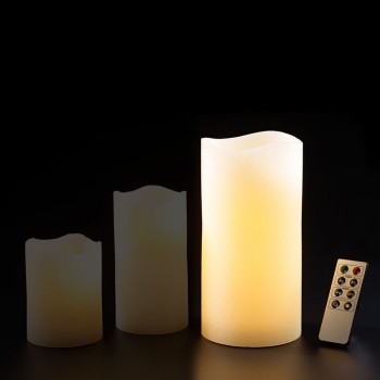 LED Echtwachskerze Groß