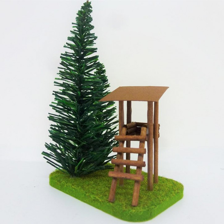 fir tree green with and hide