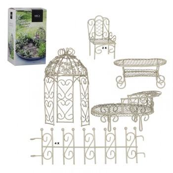 Minigarten creme-weiß 9-teilig