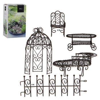 Minigarten rost-braun 9-teilig