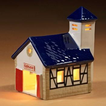 Feuerwehr-Haus blau