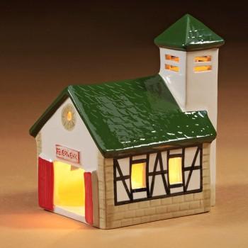 Feuerwehr-Haus grün