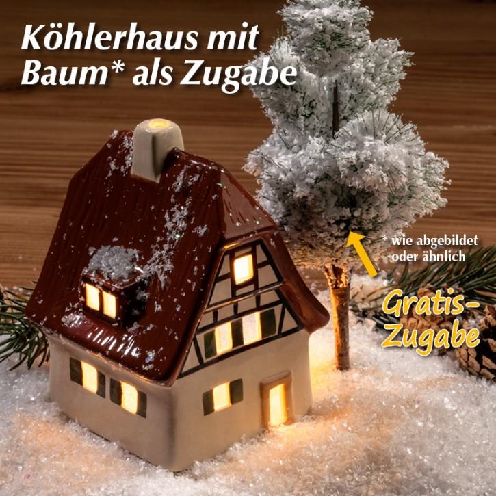 Köhlerhaus mit Baum