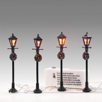 4er-Set Laternen mit Beleuchtung