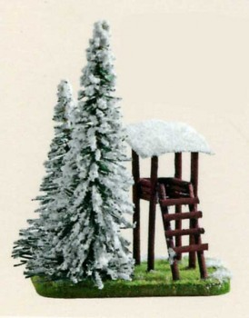 fir tree with snow and hide 10cm
