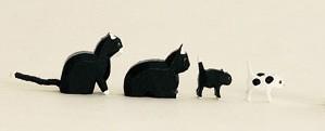 Katzenfamilie 4-teilig in Spanschachtel