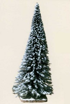 Snow-covered fir trees 19cm