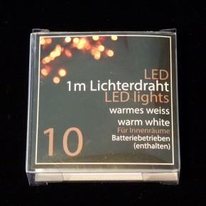 Led 10er Lichterdraht mit Knopfzelle