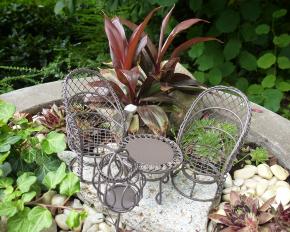 Miniatur-Gartenmöbel